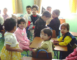 Children in an Afghanistan kindergarten